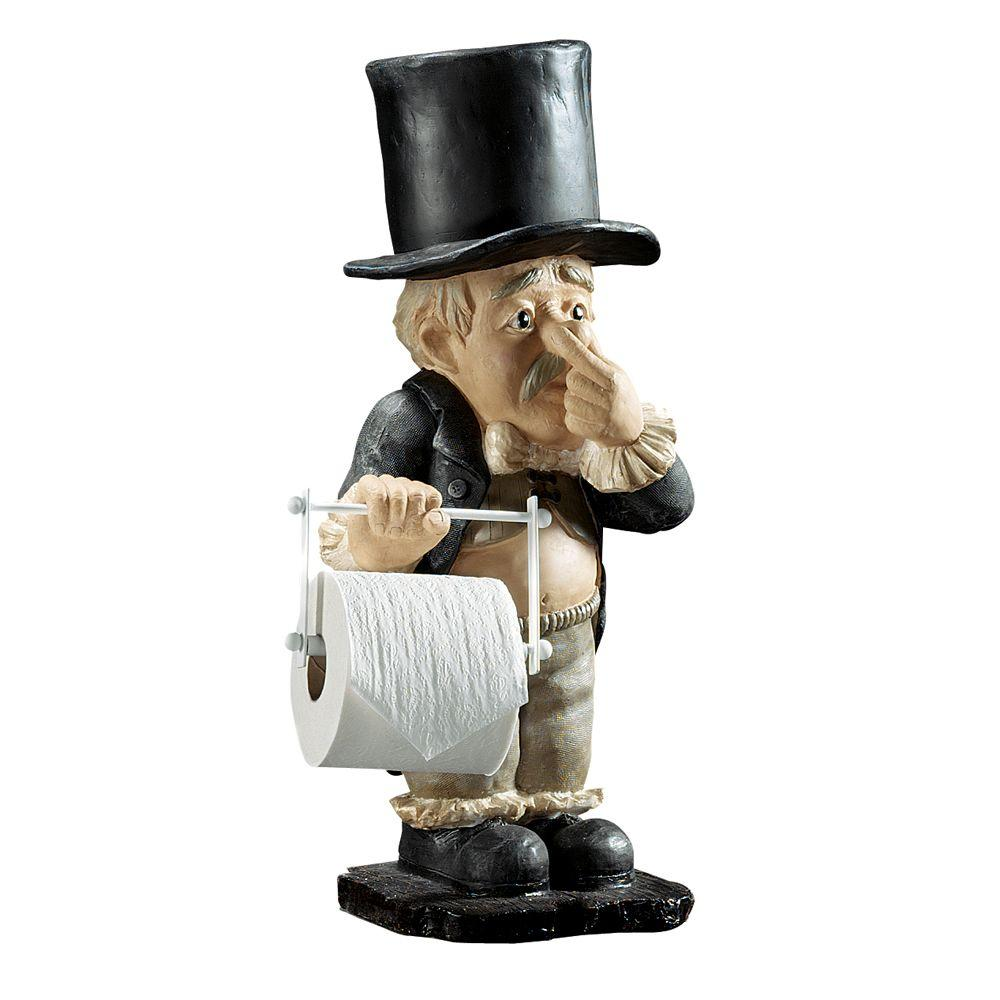 Home Decorators Collection 23 in. H Freestanding Toilet Paper Holder Butler in Multi