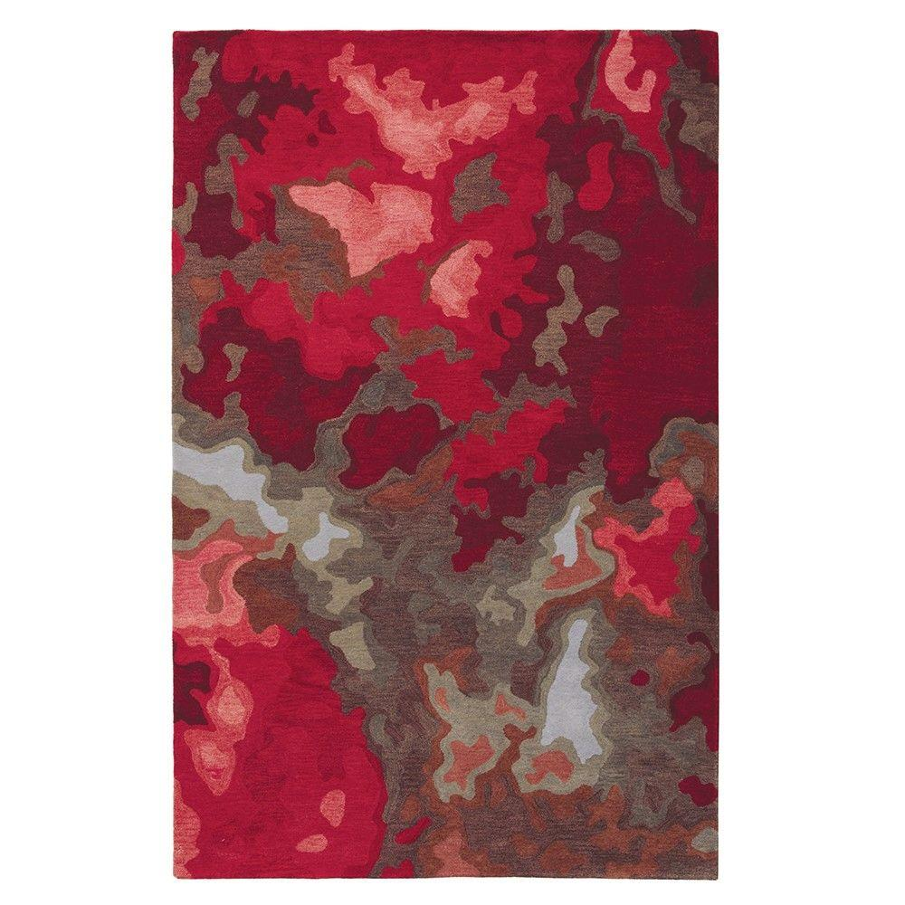 Home Decorators Collection Tides Red 8 ft. x 11 ft. Area Rug