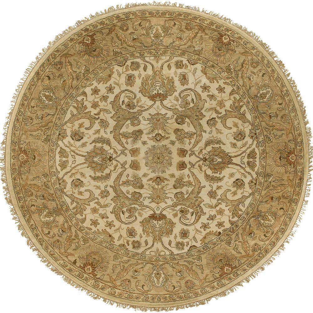 Artistic Weavers Bangalore Beige 8 ft. Round Area Rug-Bangalore-8RD - The