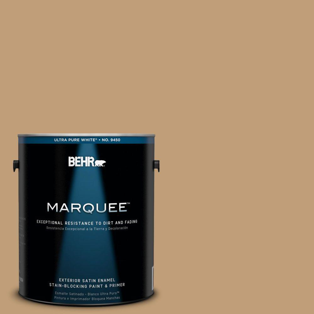 BEHR MARQUEE 1-gal. #300F-4 Almond Toast Satin Enamel Exterior Paint-945401 -