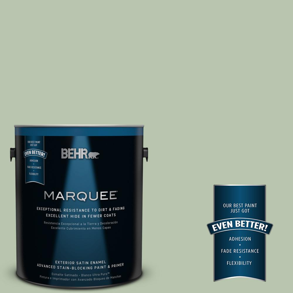 BEHR MARQUEE 1-gal. #PPU11-10 Whitewater Bay Satin Enamel Exterior Paint