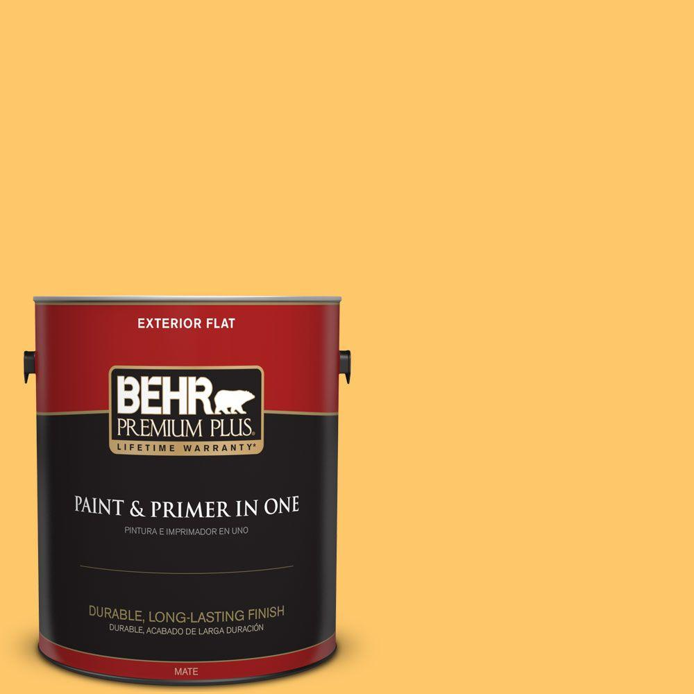 1 gal. #HDC-SP16-05 Daffodil Flat Exterior Paint