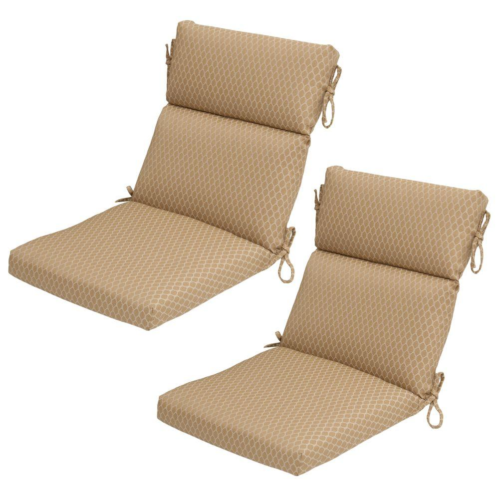 Hampton Bay Harvest Rapid-Dry Deluxe Outdoor Dining Chair Cushion (2-Pack)