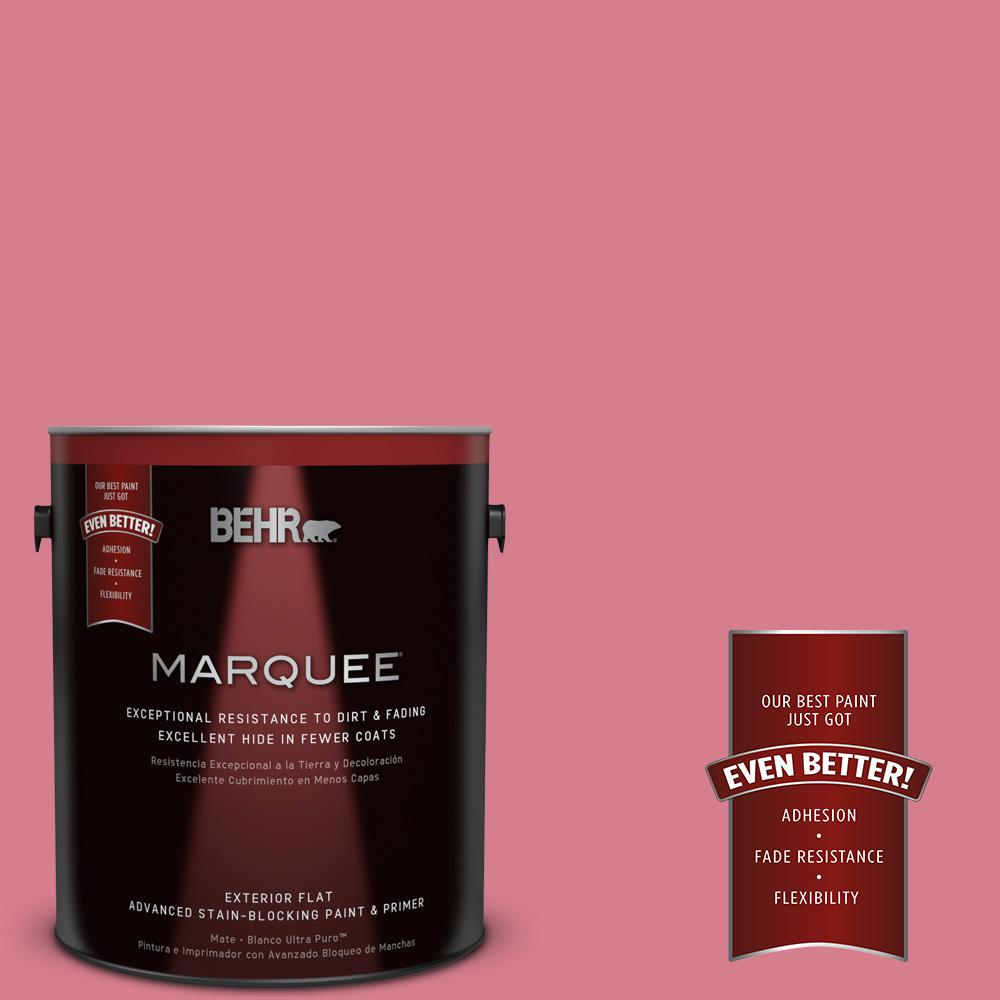 BEHR MARQUEE 1-gal. #P140-4 I Pink I Can Flat Exterior Paint
