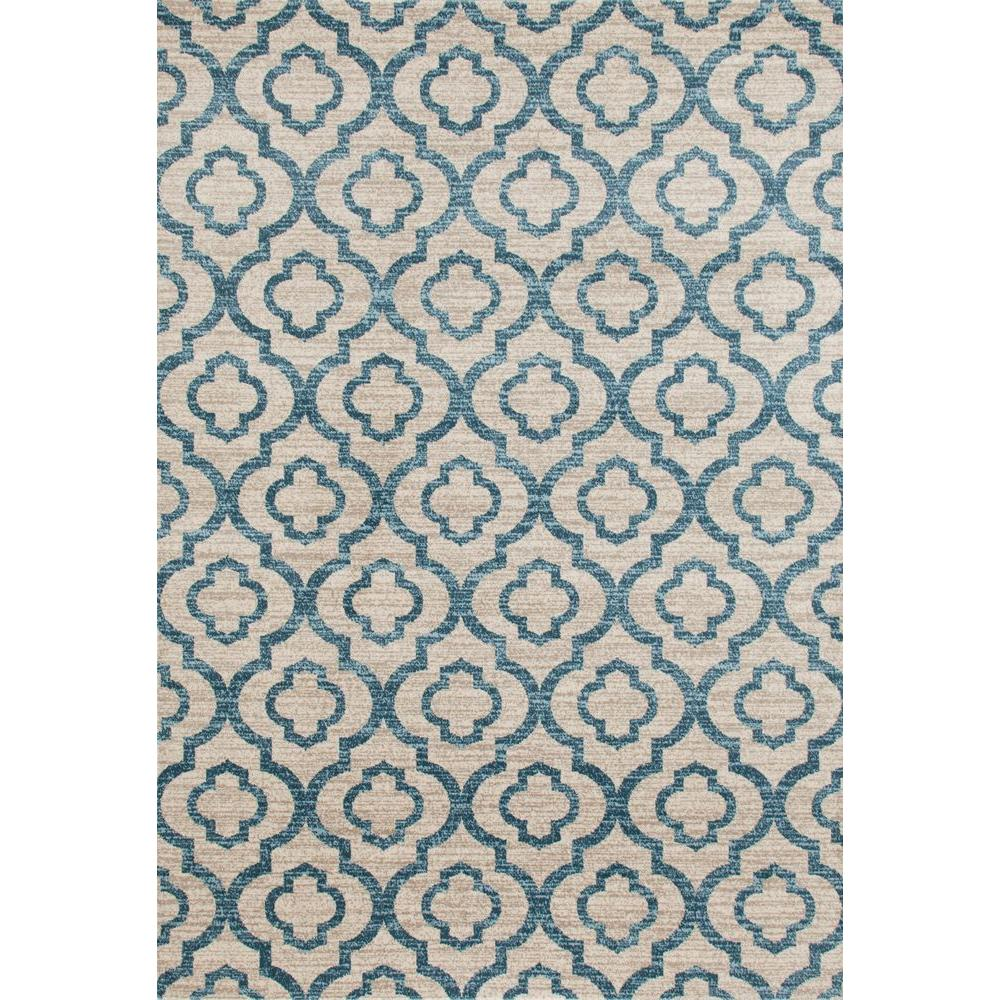 World Rug Gallery Moroccan Trellis Pattern High Quality Soft Blue 3