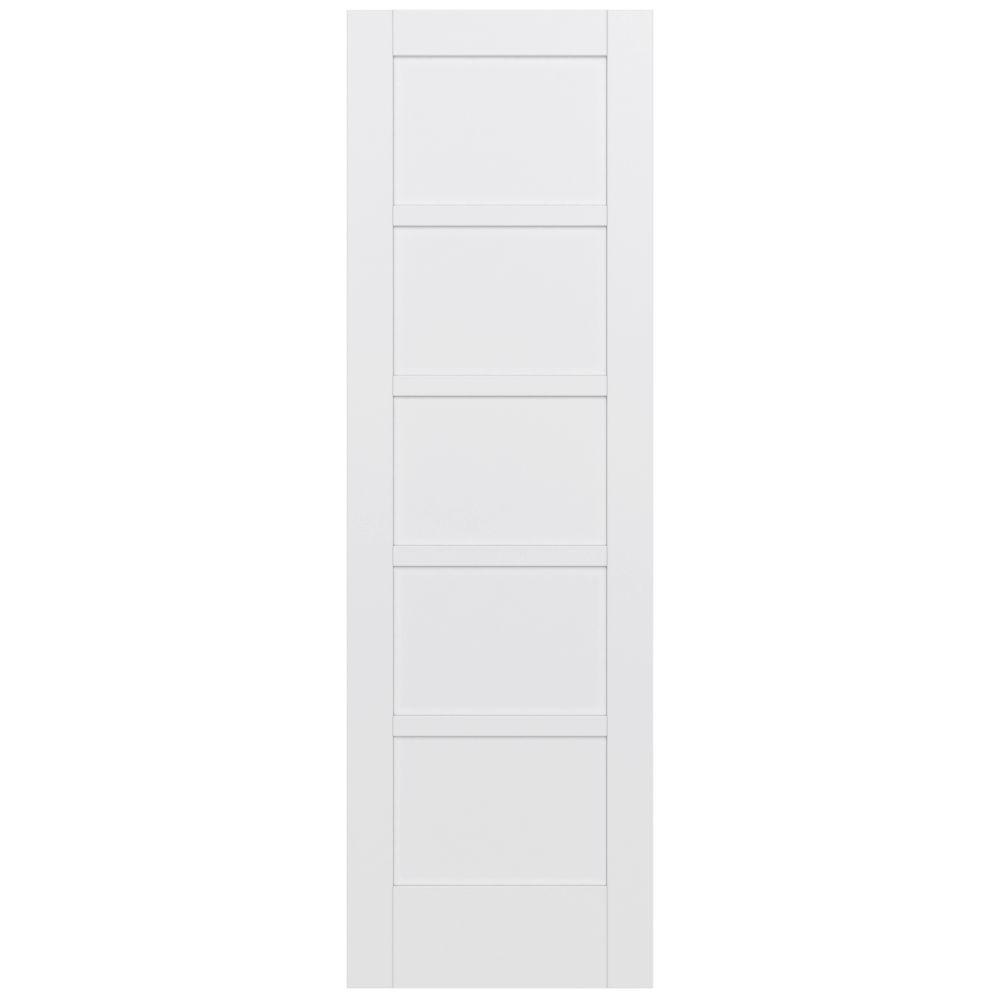 Jeld wen 32 in x 96 in moda primed white 5 panel solid Home depot interior doors wood