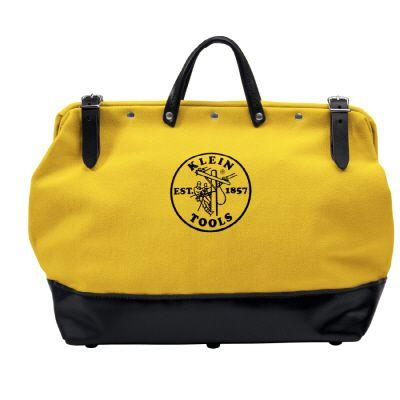 Klein Tools 16 In. Canvas Tool Bag -Yellow-DISCONTINUED