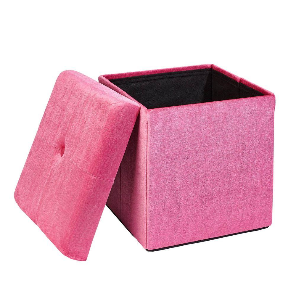 pered pink storage ottoman pg 40625 pink the home depot