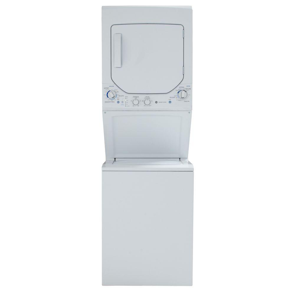 GE Unitized Spacemaker 2.2 cu. ft. Washer and 4.4 cu. ft. Electric Dryer in White