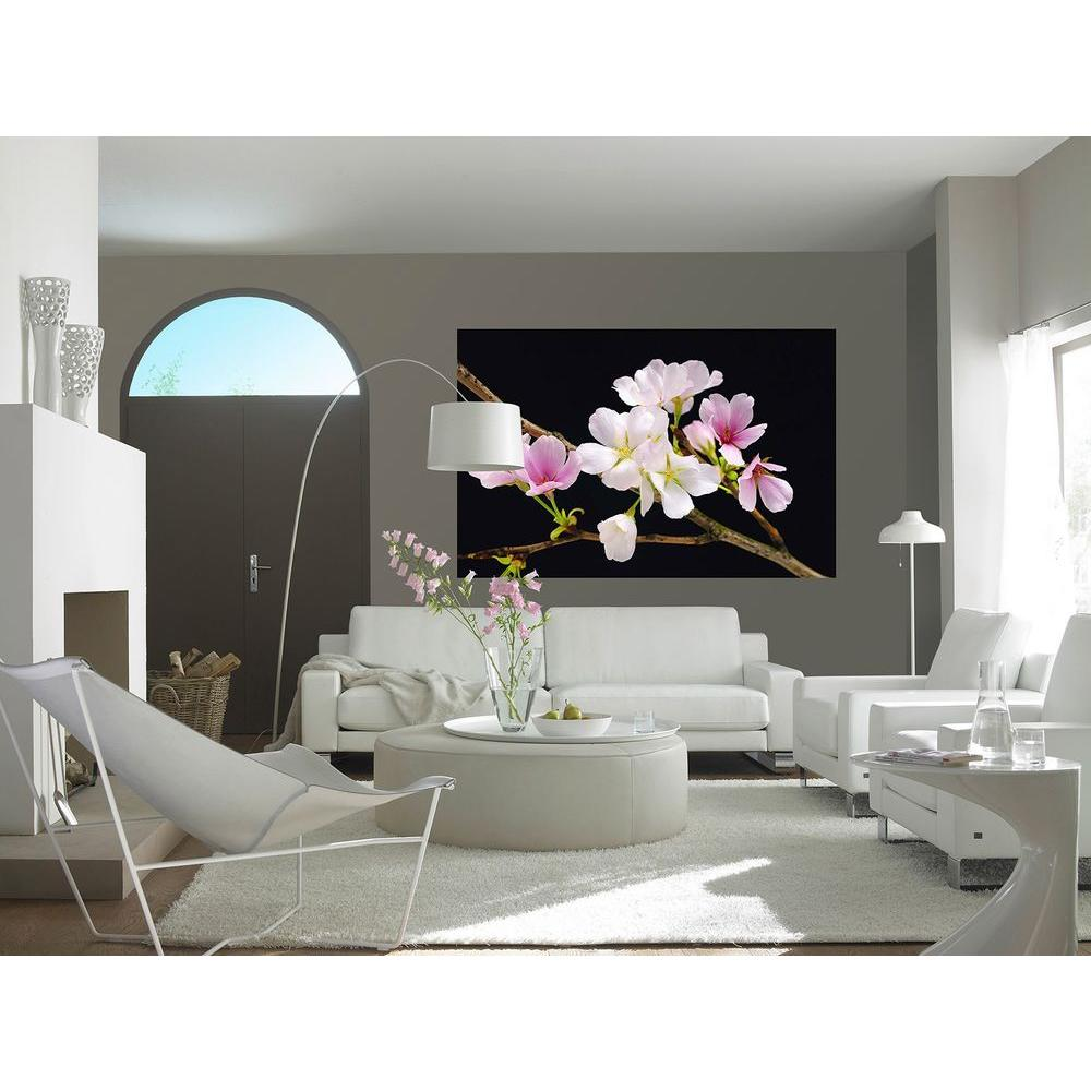 45 in. x 69 in. Cherry Blossoms Wall Mural