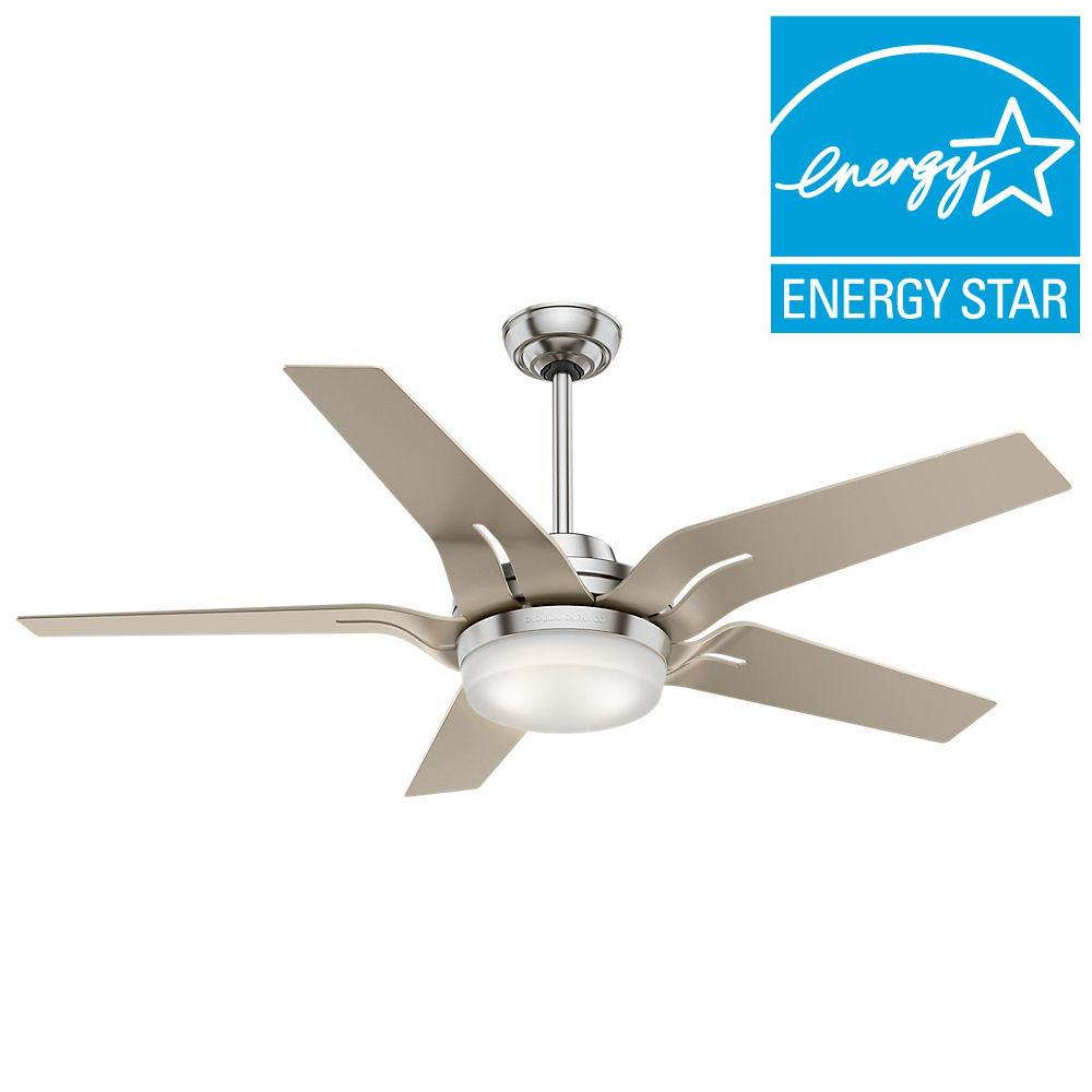 Casablanca Correne 56 in. LED Indoor Brushed Nickel Ceiling Fan-59197 -