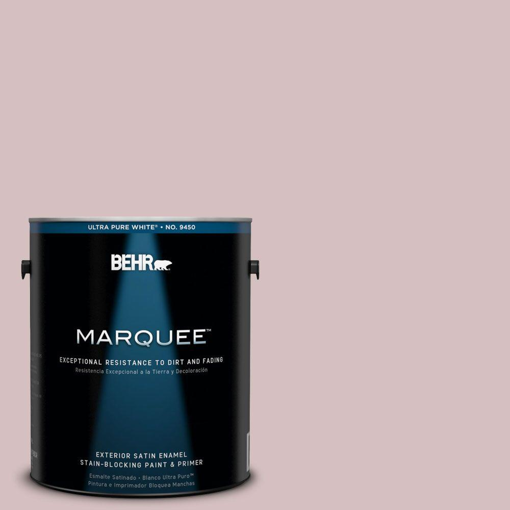 BEHR MARQUEE 1-gal. #710A-3 Sweet Breeze Satin Enamel Exterior Paint-945001 -
