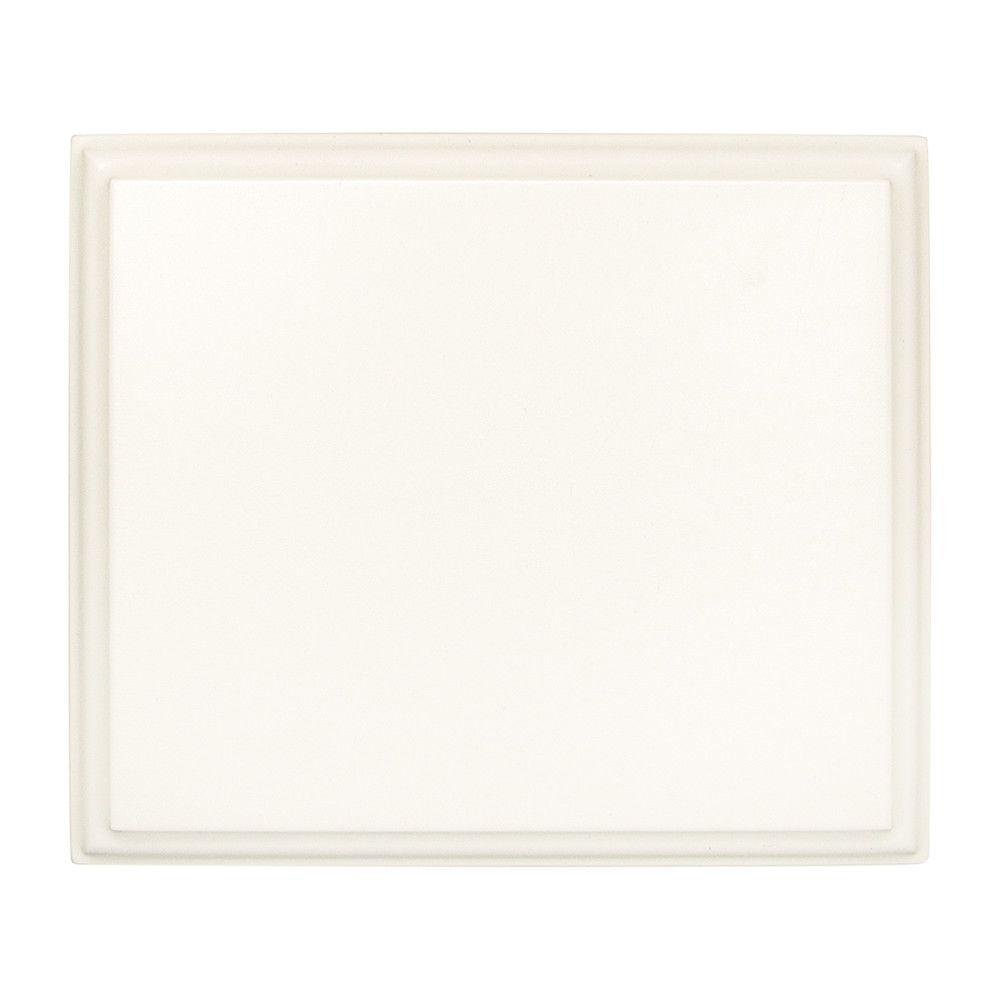 Simply Woodmark 4x3-1/2 in. Finish Sample Chip in Thermofoil White-95332 -