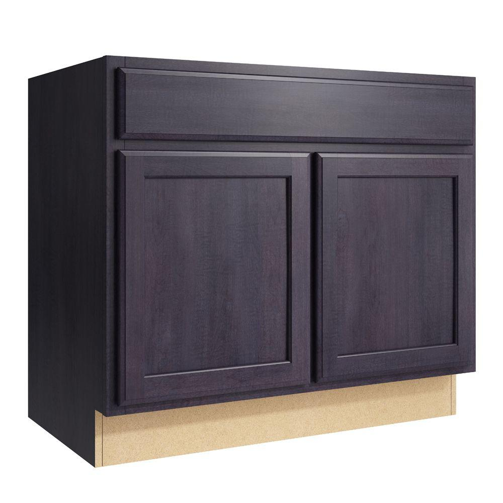 Cardell Cabinets Stig 36 in. W x 31 in. H Vanity Cabinet Only in Ebon Smoke VSB362131BUTT.AD5M7.C64M