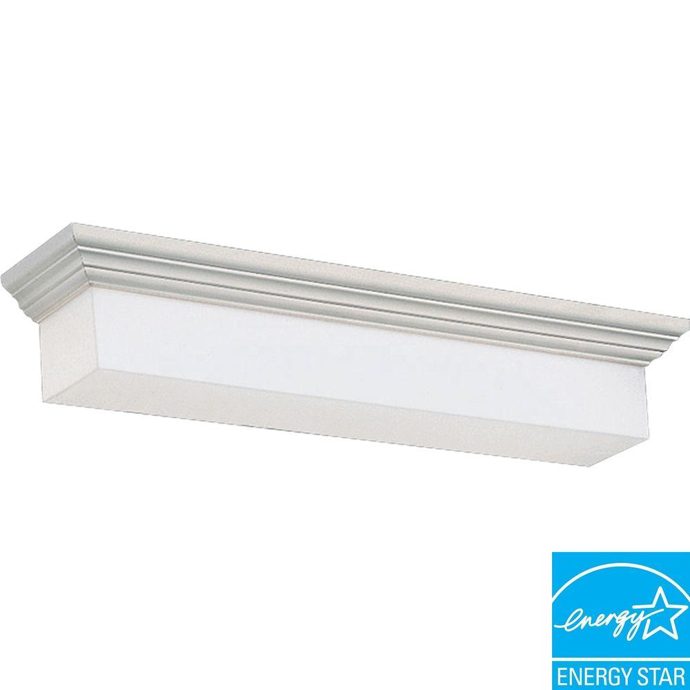 White 2-light Fluorescent Vanity Fixture-DISCONTINUED