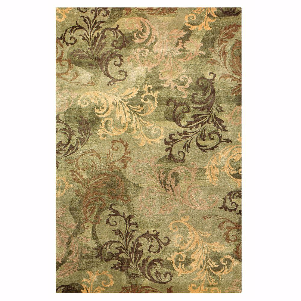 Home Decorators Collection Symphony Sage/Green 9 ft. 9 in. x 13 ft. 9 in. Area Rug