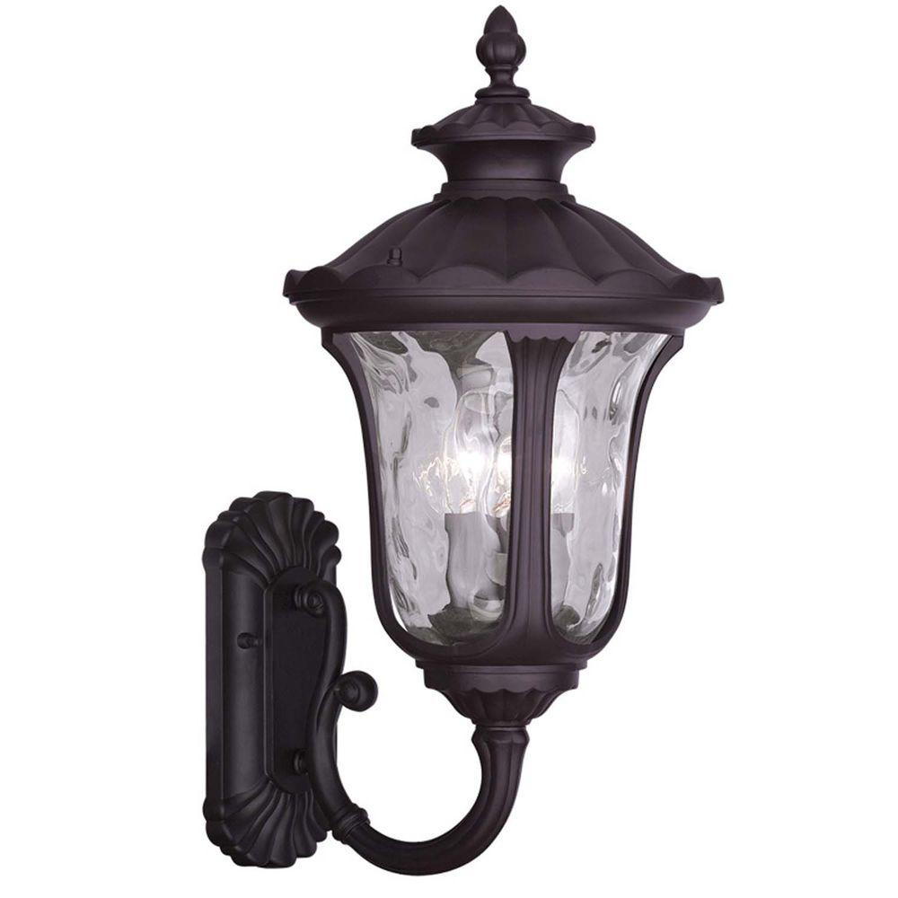 Providence 3-Light Outdoor Bronze Incandescent Wall Lantern