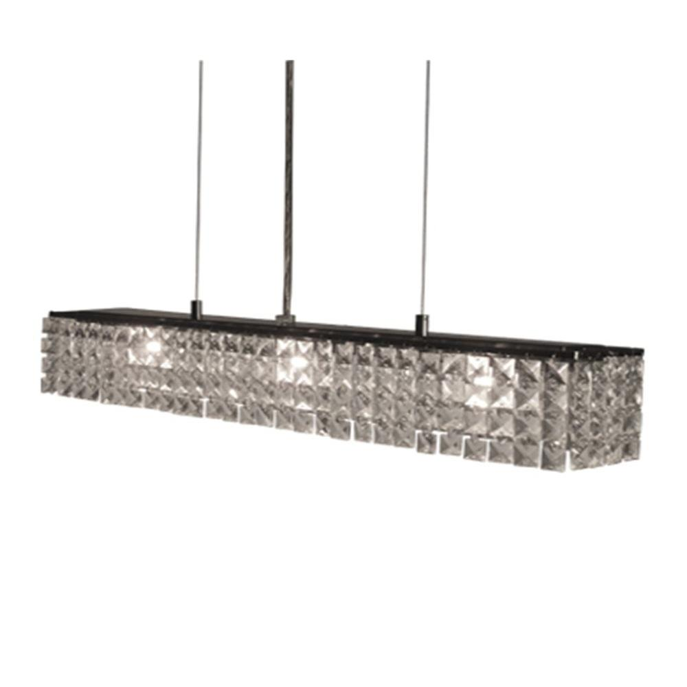 BAZZ Glam-Zircon Collection 4-Light Hanging Chrome Pendant-DISCONTINUED