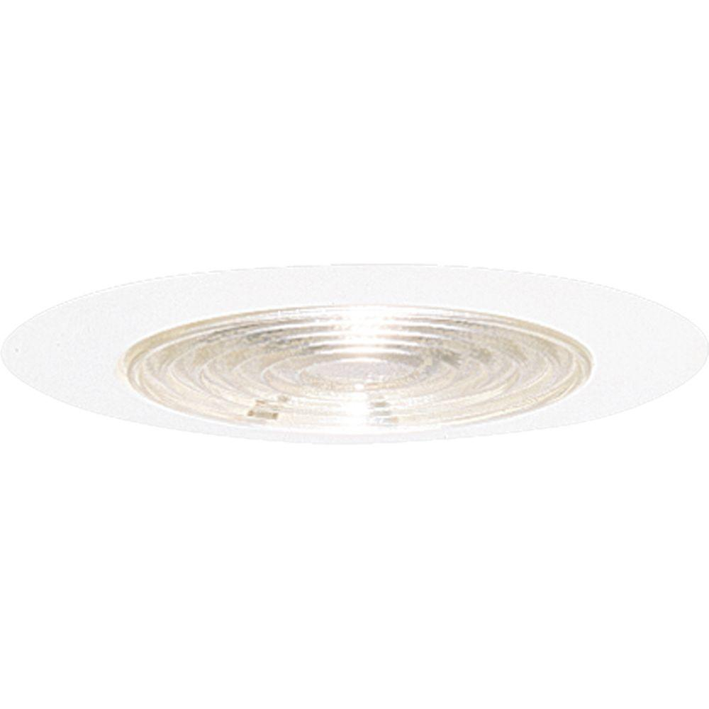 6 in. White Recessed Fresnel Shower Trim