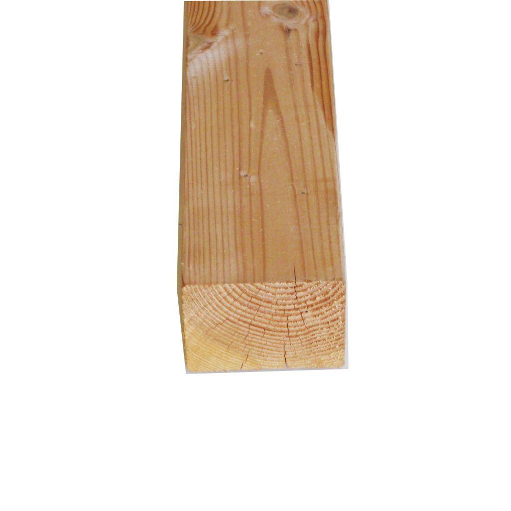 null 4 in. x 4 in. x 12 ft. #2 and Better FSC Green Douglas Fir Lumber