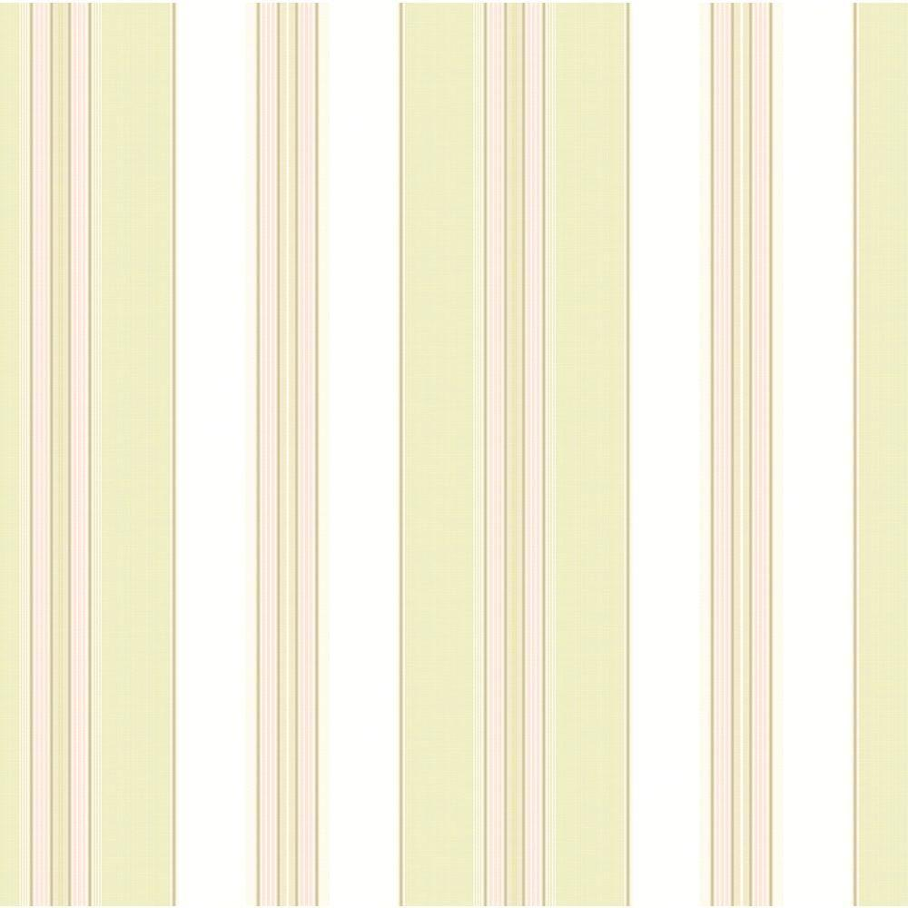 56 sq. ft. Waverly Classics Lovers Lane Wallpaper, Ivory/Pale Lime/Pink/Brown
