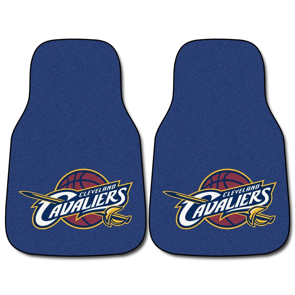 FANMATS Cleveland Cavaliers 18 in. x 27 in. 2-Piece Carpeted Car