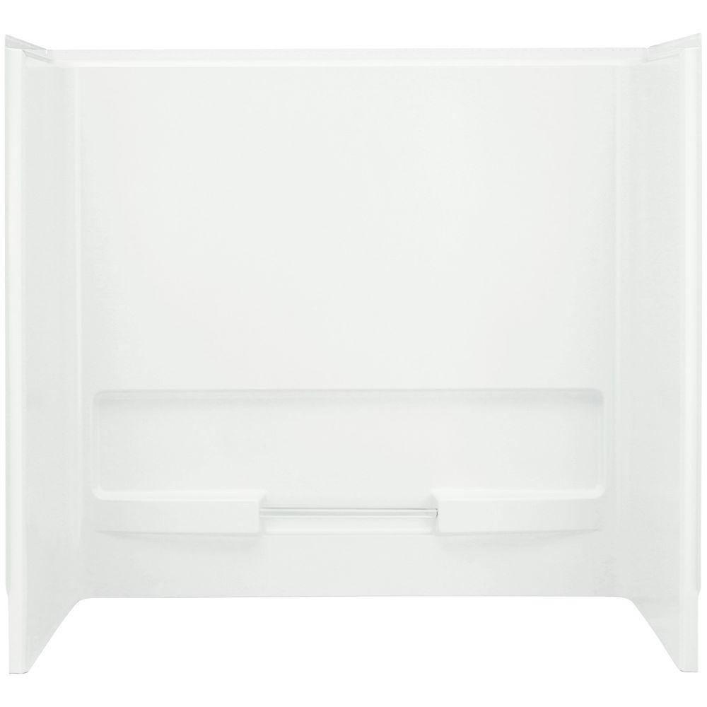 STERLING Advantage 31-1/4 in. x 60 in. x 56-1/4 in. 3-Piece Direct-to-Stud Tub and Shower Wall Set in White