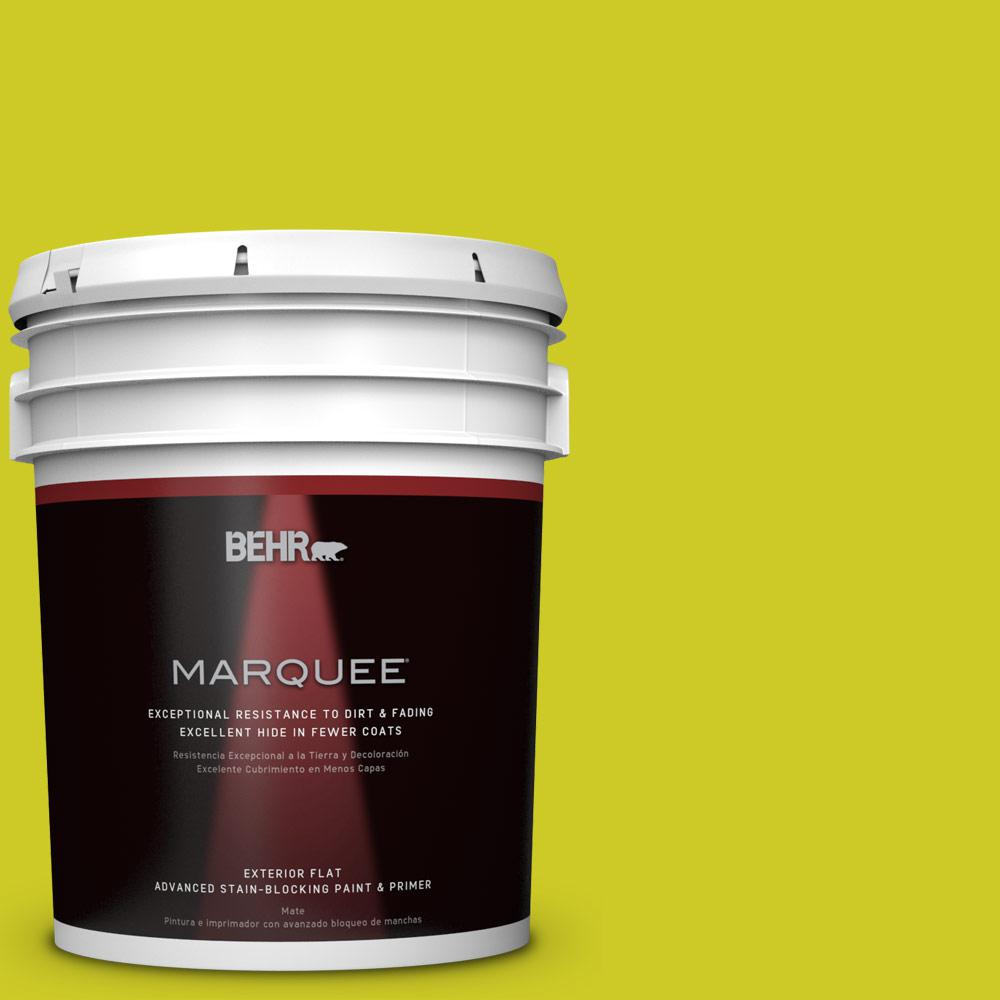 BEHR MARQUEE 5-gal. #S-G-400 Lime Pop Flat Exterior Paint