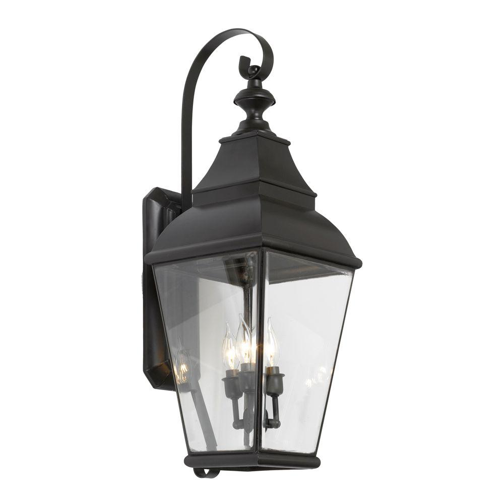 Titan Lighting Bristol 3-Light Wall Mount Outdoor Charcoal Sconce-TN-12049 - The Home Depot