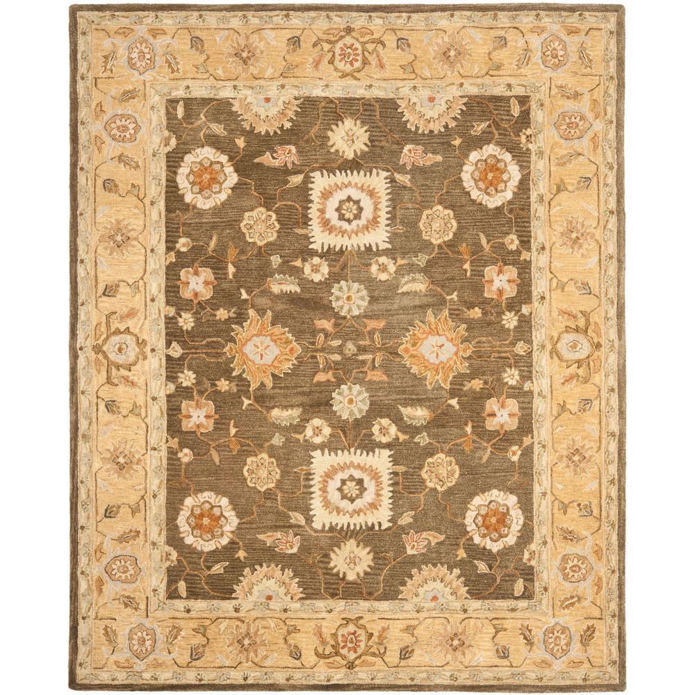 Anatolia Brown/Taupe 5 ft. x 8 ft. Area Rug