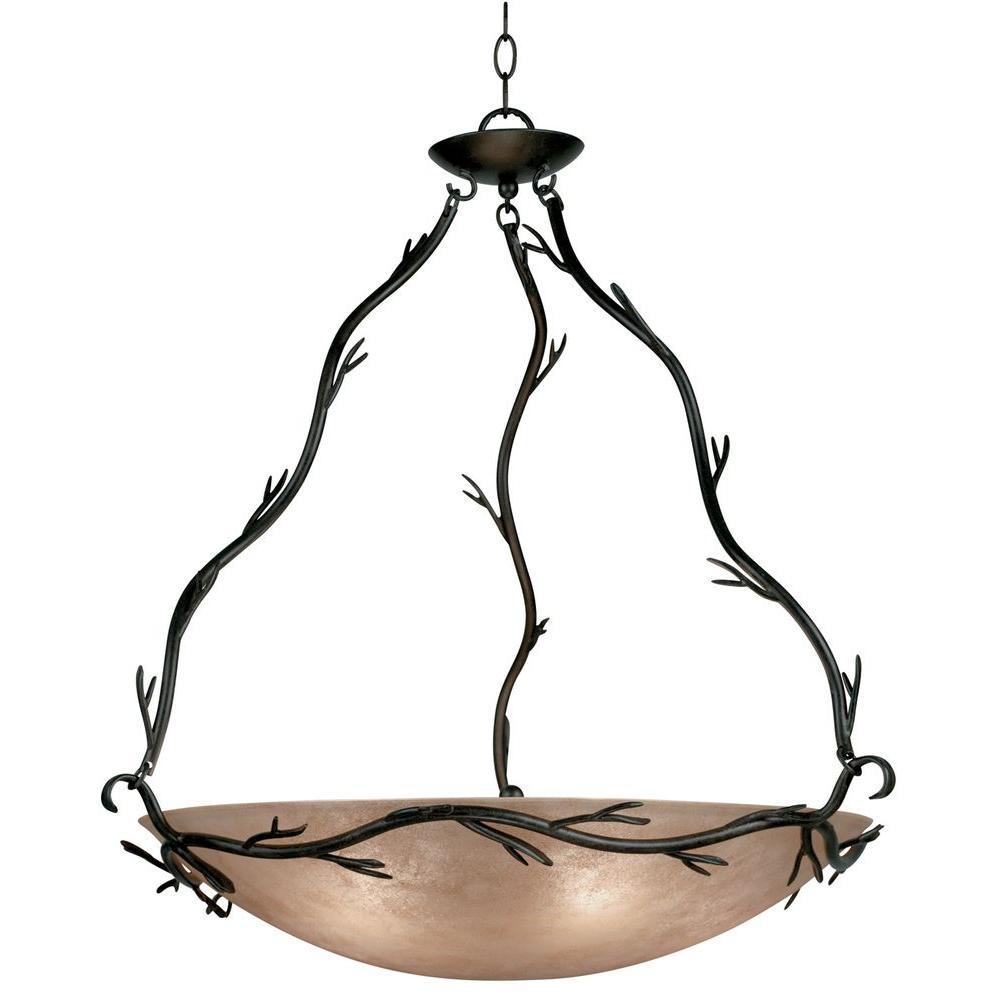 Kenroy Home Twigs 5-Light Bronze Pendant-90904BRZ - The Home Depot