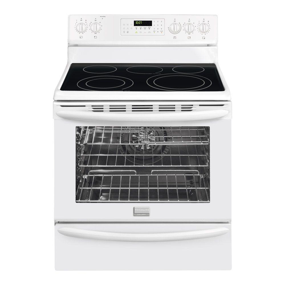 Frigidaire 30 in. 5.8 cu. ft. Electric Range with Self-Cleaning Convection in White
