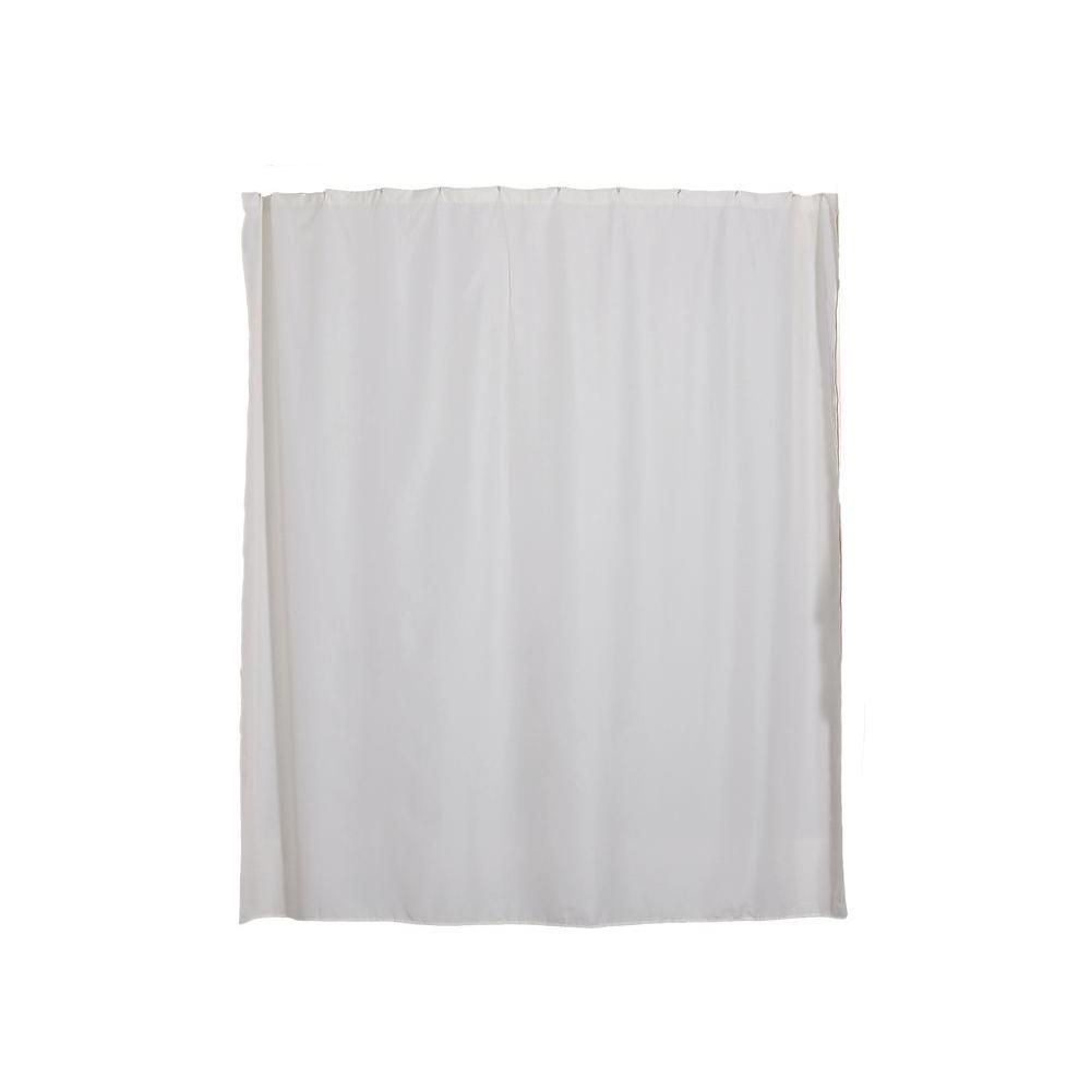 Aulaea Infinity Collection 72 in. Shower Curtain Liner in White