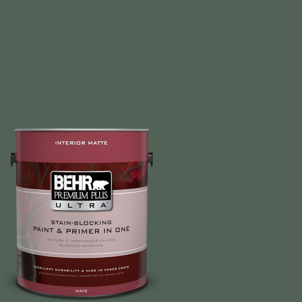 1 gal. #460F-6 Medieval Forest Flat/Matte Interior Paint