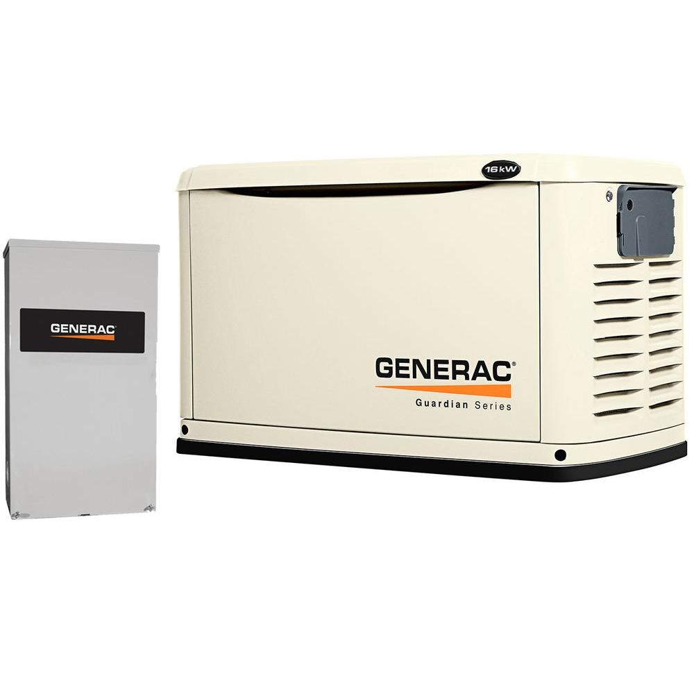 16,000-Watt Air Cooled Automatic Standby Generator with 200 Amp SE Rated Transfer Switch