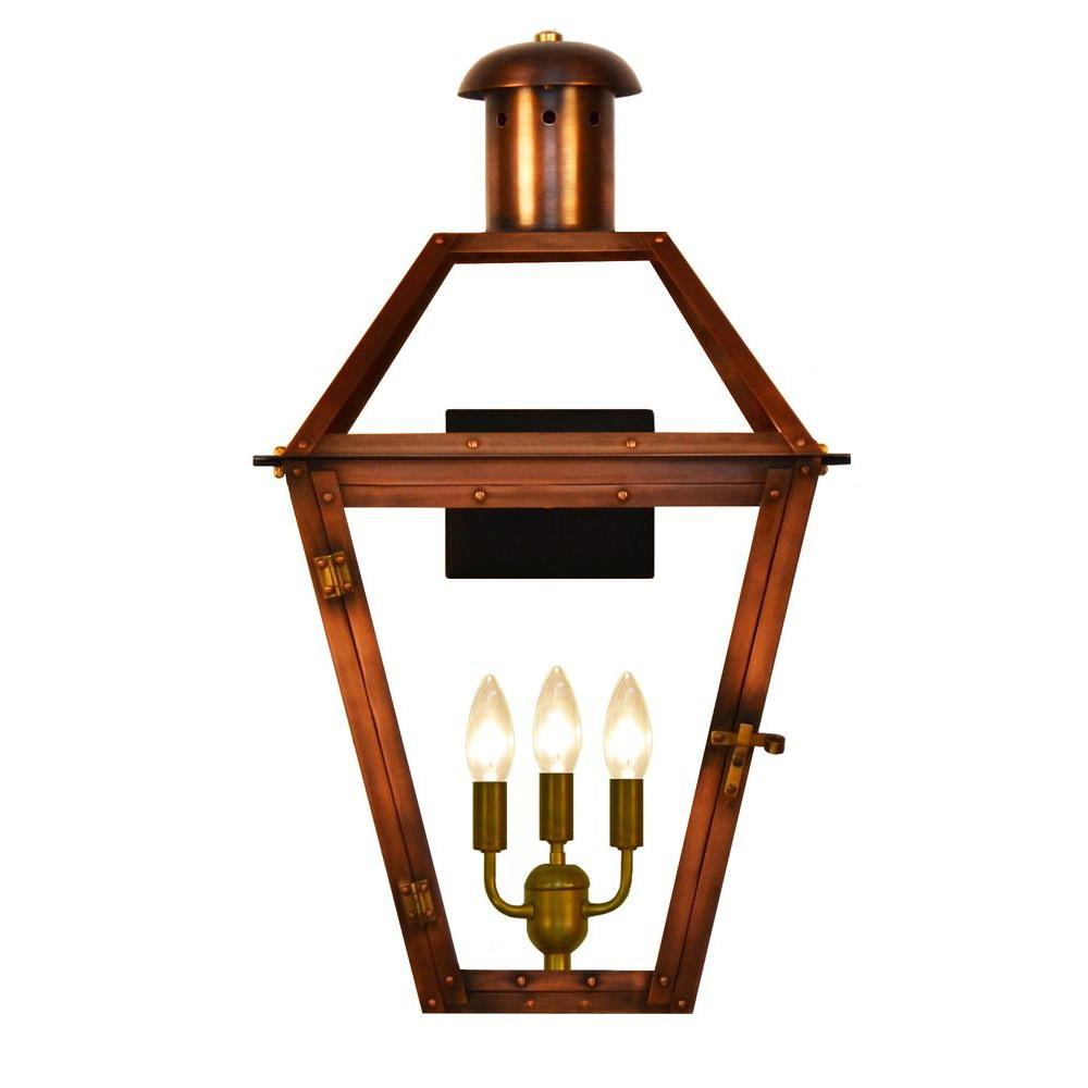 Addison 3-Light Copper Outdoor Wall Lantern