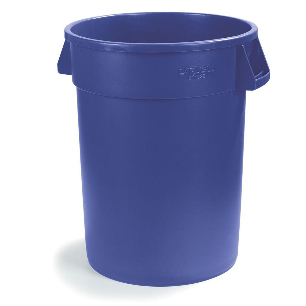 Carlisle Bronco 10 Gal. Blue Round Trash Can (6-Pack)
