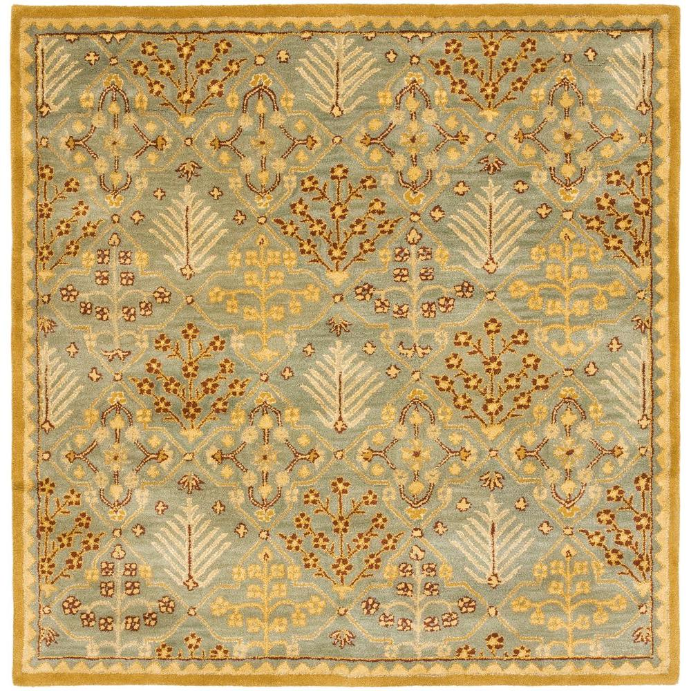Safavieh Antiquity Light Blue/Gold 6 ft. x 6 ft. Square Area