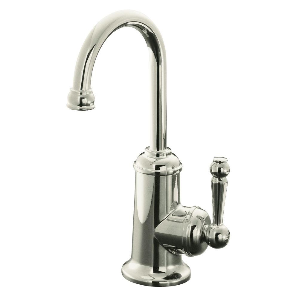 Wellspring Single Handle Bar Faucet Traditional Design in Polished Nickel