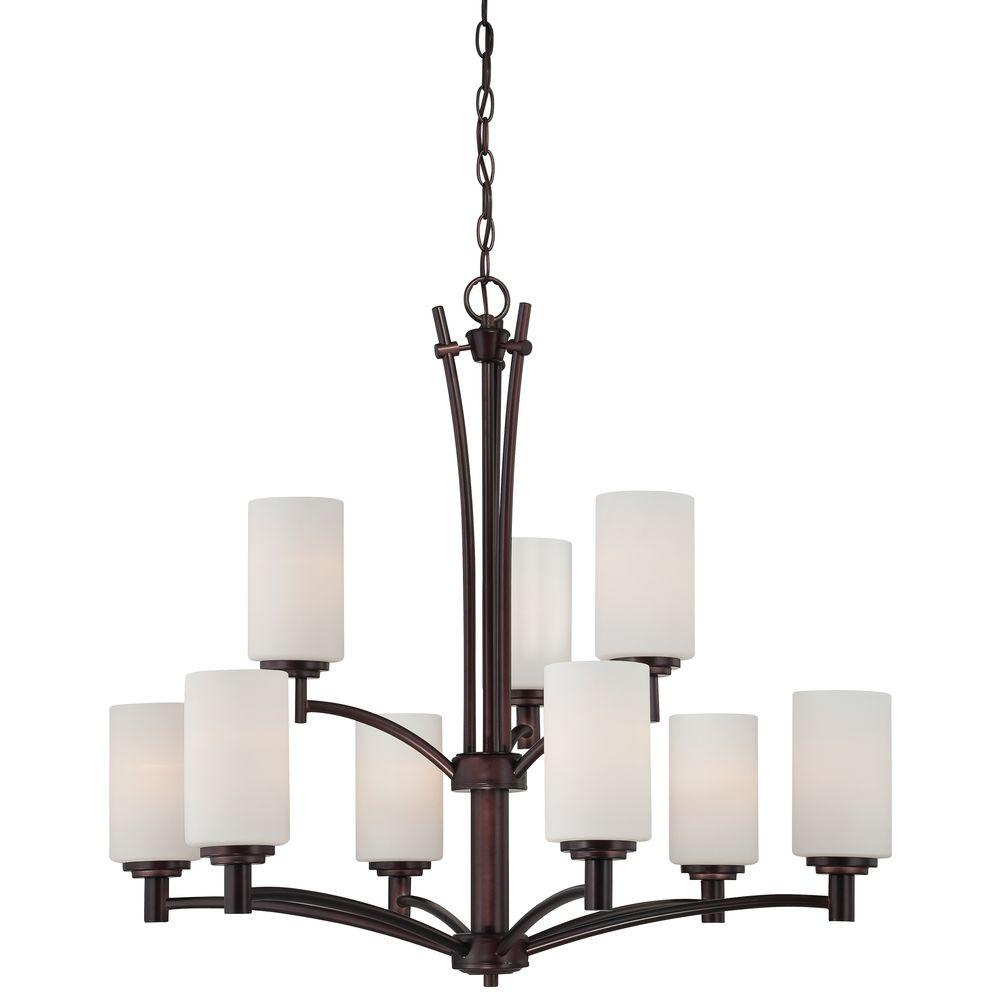 Thomas Lighting Pittman 9-Light Sienna Bronze Hanging Chandelier-190042719 - The
