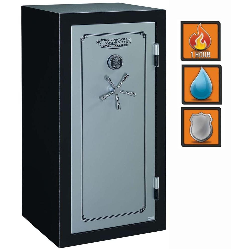Stack-On Total Defense 16.5 cu. ft. 28 Gun Fire/Waterproof Electronic Lock Safe with Door Storage-DISCONTINUED