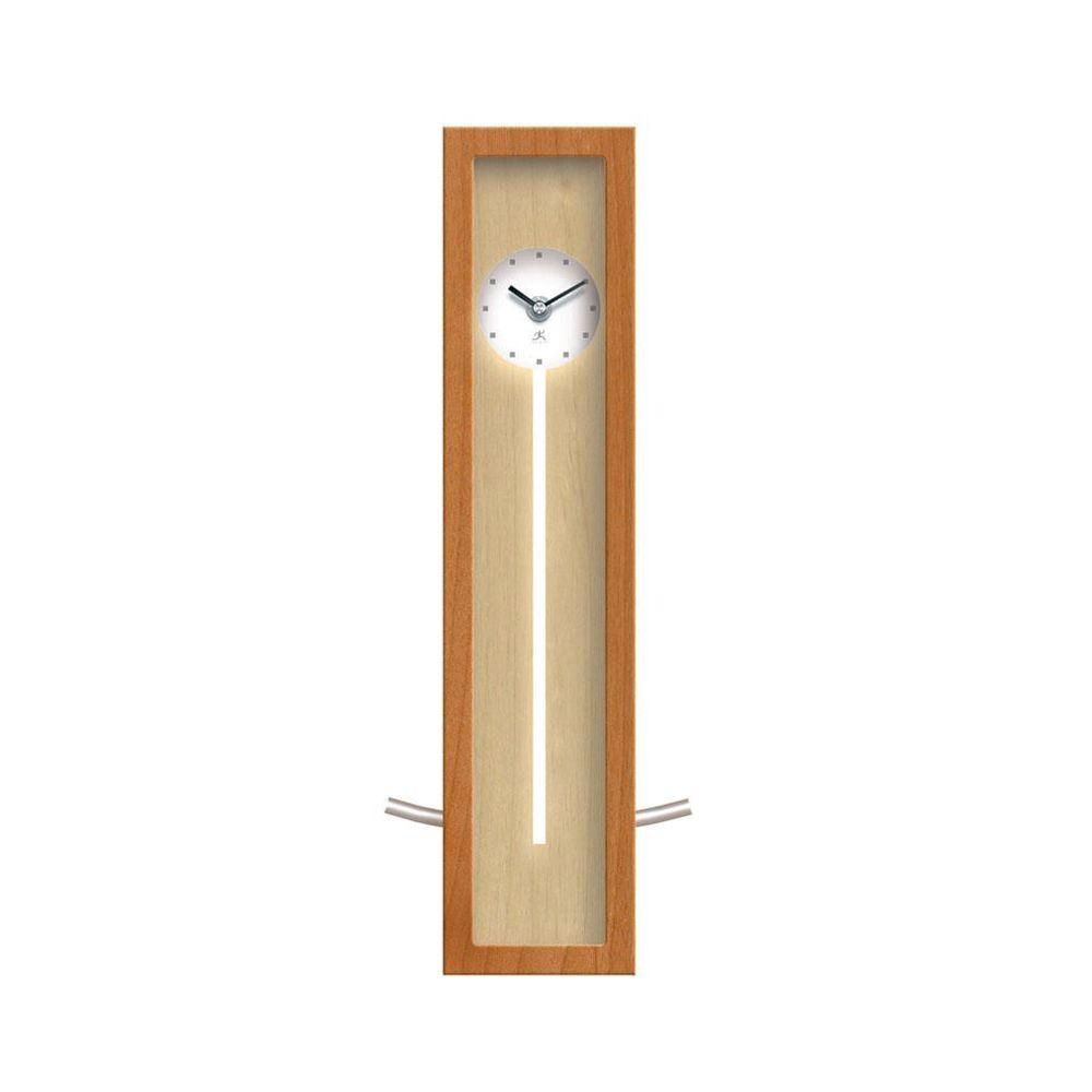 Home Decorators Collection 6 in. W High Rise Natural Wood Wall Clock