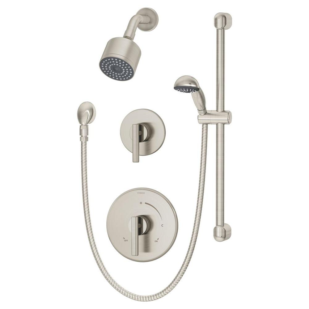Symmons Dia 1-Spray Hand Shower and Shower Head Combo Kit in