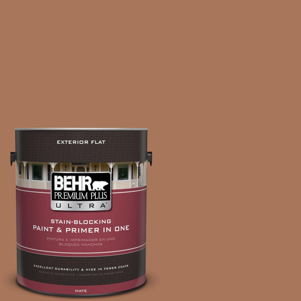 1-gal. #240F-5 Toasted Chestnut Flat Exterior Paint