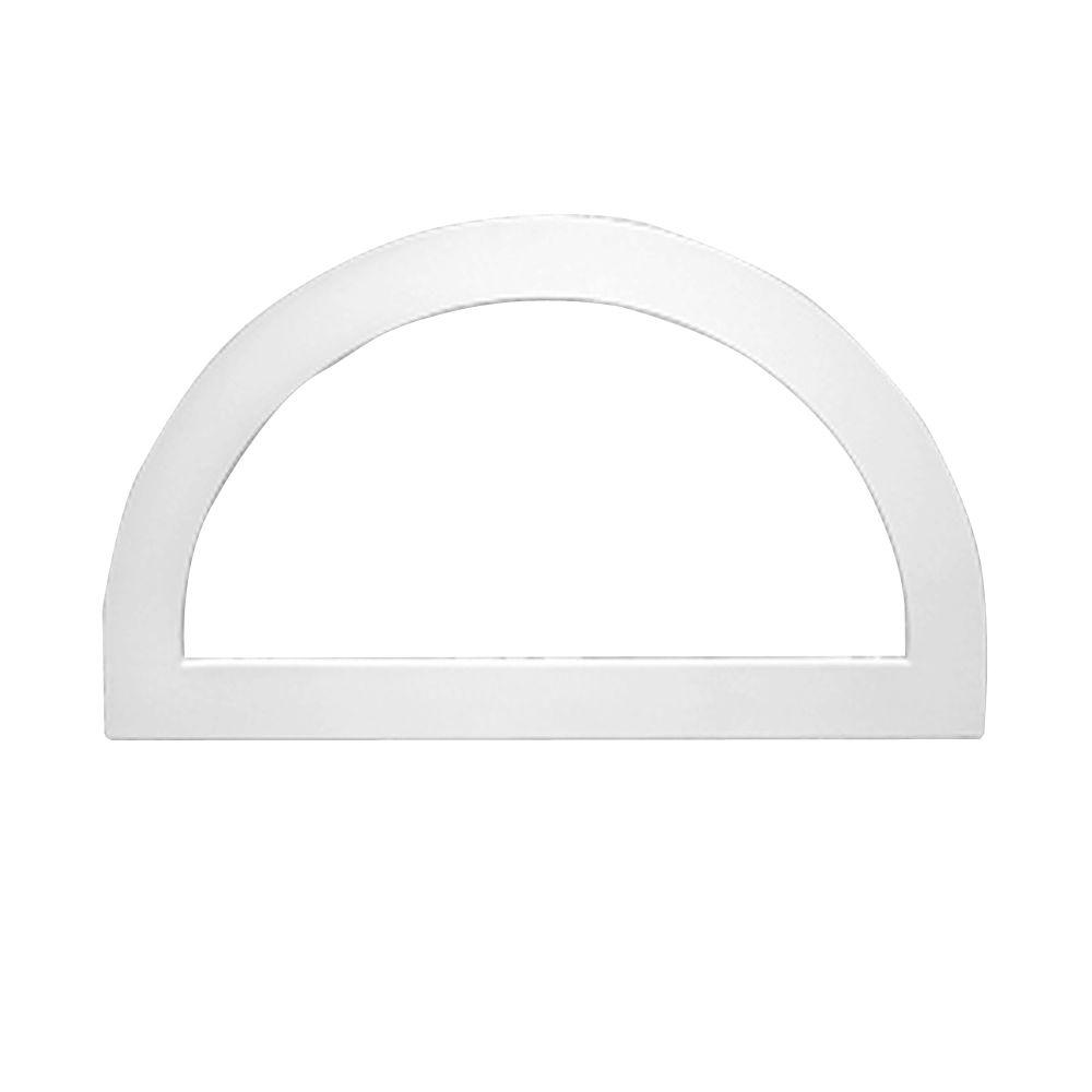 Fypon 43 3 16 in x 25 3 16 in x 1 in polyurethane flat for Fypon gable trim