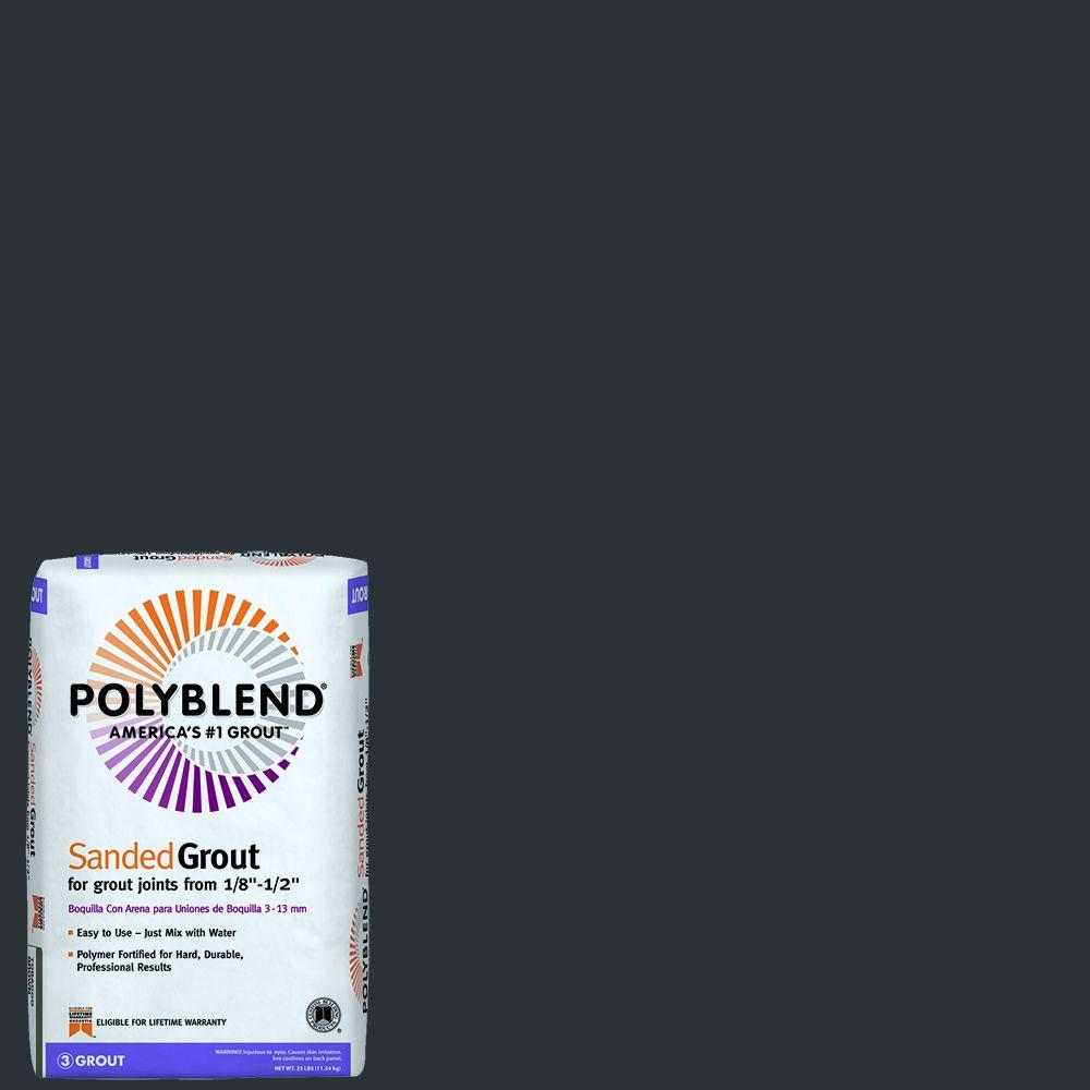 Custom Building Products Polyblend #60 Charcoal 25 lb. Sanded Grout