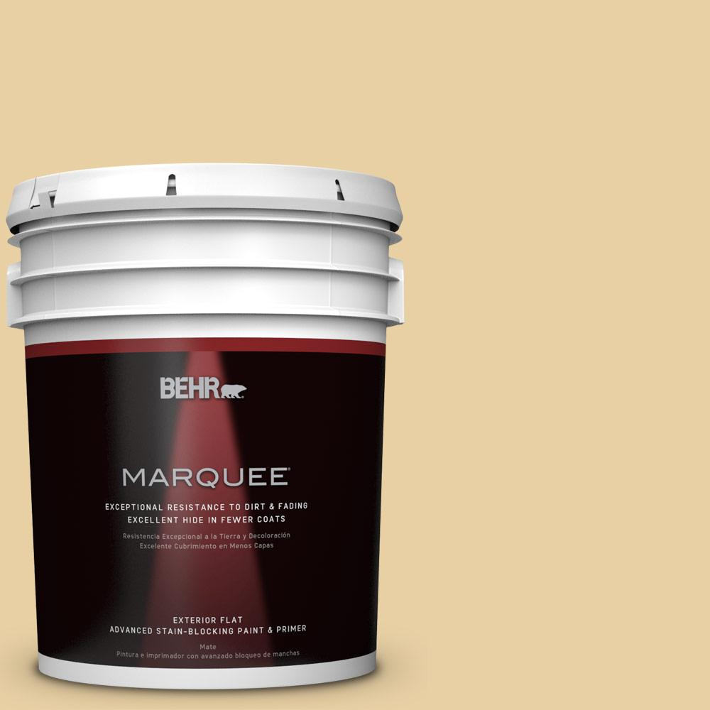 BEHR MARQUEE 5-gal. #M300-3 Harmonious Gold Flat Exterior Paint-445405 - The
