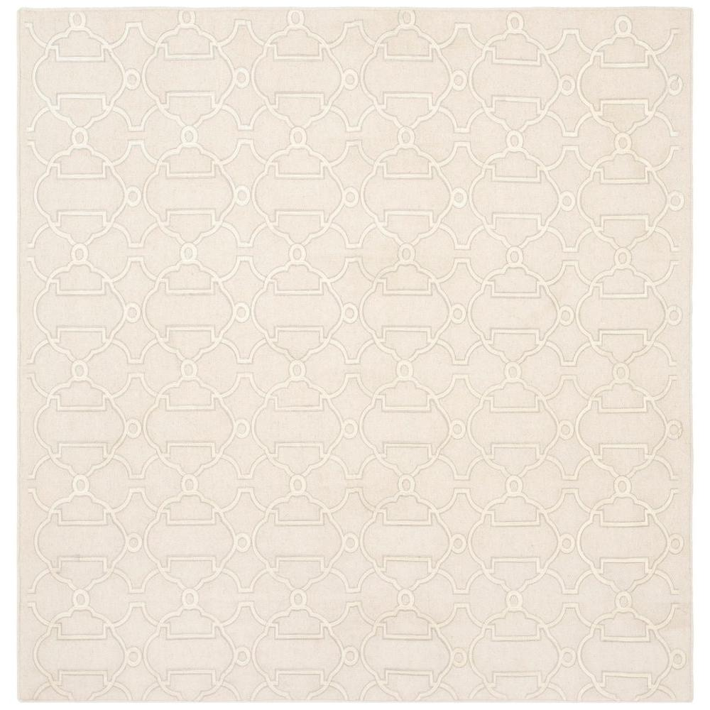 Dhurries Beige 6 ft. x 6 ft. Square Area Rug