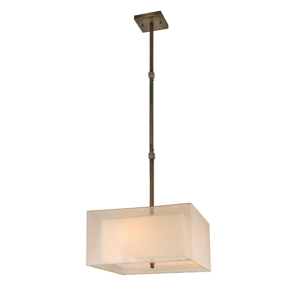 Hampton Bay Angelina Collection 3-Light Rust Pendant-DISCONTINUED