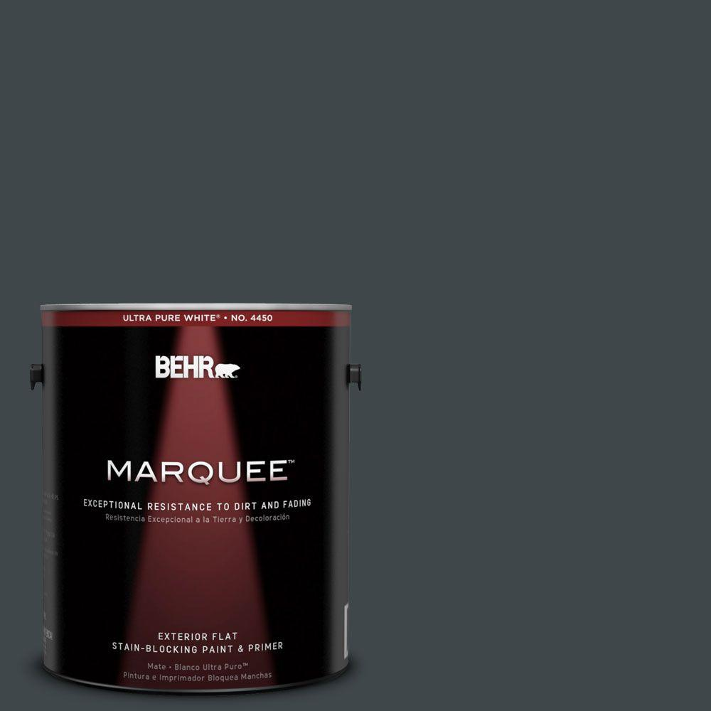 BEHR MARQUEE 1-gal. #730F-7 Black Sable Flat Exterior Paint-445301 - The